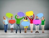 Różnorodności pochodzenia etnicznego Globalnej społeczności Concep Komunikacyjni ludzie obraz royalty free