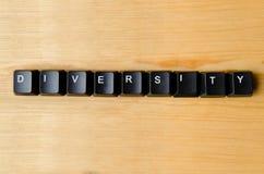 Różnorodności słowo obrazy stock