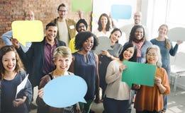 Różnorodności społeczności grupy ludzi Drużynowy pojęcie zdjęcie stock