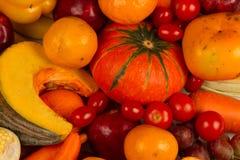 Różnorodny Żółty warzywo i owoc zamknięci w górę zdjęcie royalty free