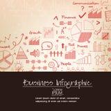 Różnorodny biznesowy infographic elementu układ ilustracji