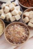 Różnorodny cukier zdjęcie royalty free