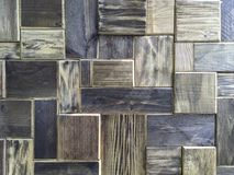 Różnorodny drewno adry wzór w geometrycznej kształt powierzchni w przypadkowym Fotografia Stock