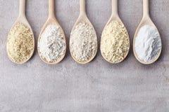 Różnorodny gluten uwalnia mąkę fotografia royalty free
