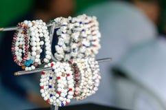 Różnorodny jewellery robić naturalni materiały meerschaum obraz stock