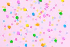 Różnorodny kolorowy confetti tło fotografia royalty free
