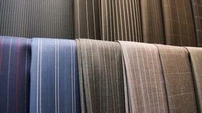 Różnorodny kostium tkanin zakończenie obrazy stock