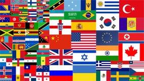 Różnorodny kraju świat zaznacza kolekcję royalty ilustracja