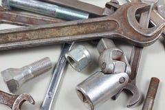 Różnorodny metalu narzędzie dla machinalnych prac zbliżenia Zdjęcia Stock