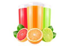 Różnorodny owoc sok odizolowywający na białym tle zdjęcie stock