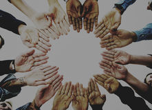 Różnorodny P eople ręk Wpólnie partnerstwo zdjęcie royalty free