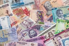 Różnorodny pieniądze kraje afrykańscy zdjęcia stock
