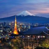 Różnorodny podróży miejsce przeznaczenia w Japonia Zdjęcia Royalty Free