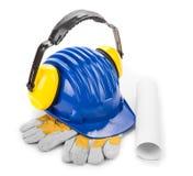 Różnorodny pracujący wyposażenie z ciężkim kapeluszem Obraz Royalty Free