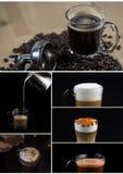 Różnorodny sławny lukrowy kawowy szablon Fotografia Royalty Free