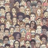 Różnorodny tłum ludzie ilustracji