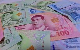 Różnorodny Tajlandzcy banknoty fotografia royalty free