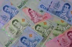 Różnorodny Tajlandzcy banknoty obraz royalty free