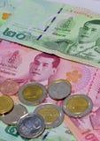 Różnorodny Tajlandzcy banknoty zdjęcie stock