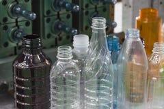 Różnorodny typ próbka plastikowa butelka zdjęcie stock