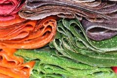Różny barwiony słodki Tklapi od Gruzińskiej kuchni zdjęcie stock