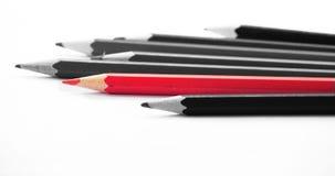 Różny jeden Ołówki nad białym tłem Zdjęcia Royalty Free