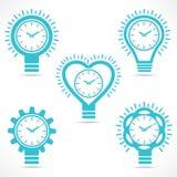 Różny kształta zegar Obrazy Royalty Free