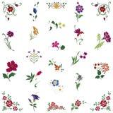 różny kwiecisty cztery ornamentu deseniują bezszwowe płytki Obraz Royalty Free