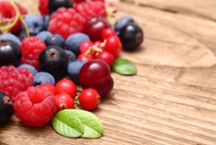 Różny typ jagodowe owoc Obrazy Royalty Free