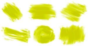 Różny uderzenie żółta farba royalty ilustracja