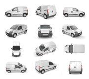 12 różny widok pickup samochód - egzamin próbny up ilustracja wektor