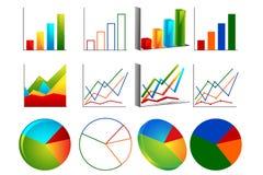 różny wykres Obrazy Stock