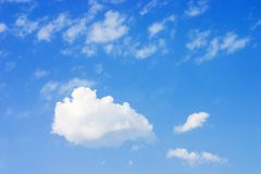 różnych chmury fotografia royalty free