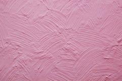 Różowa ściana z tynk ulgą Zdjęcia Stock