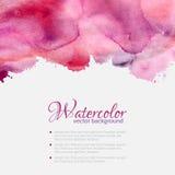 Różowa akwarela kleksów wzoru wierzchołka rama Zdjęcie Royalty Free