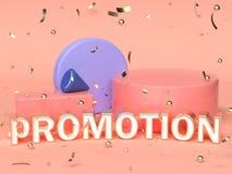 różowa czerwona błękitna abstrakcjonistyczna geometryczna kształt scena 3d odpłaca się reklamowego promocyjnego tekst royalty ilustracja
