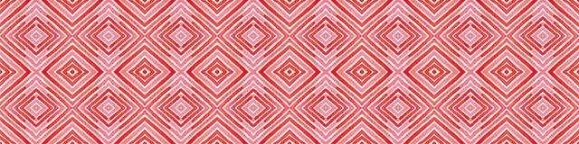 Różowa czerwona Bezszwowa Rabatowa ślimacznica Geometryczny Waterco ilustracji