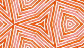 Różowa czerwona Geometryczna akwarela Błogi Bezszwowy zdjęcie stock