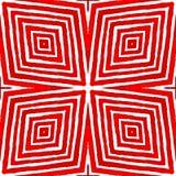 Różowa czerwona Geometryczna akwarela Błogi Bezszwowy obrazy royalty free