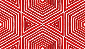 Różowa czerwona Geometryczna akwarela Błogi Bezszwowy obrazy stock