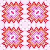 Różowa czerwona Geometryczna akwarela Błogi Bezszwowy obraz royalty free