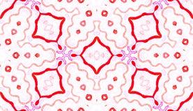 Różowa czerwona Geometryczna akwarela Błogi Bezszwowy obraz stock