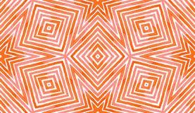 Różowa czerwona Geometryczna akwarela Delikatny Bezszwowy P ilustracji