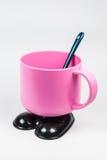 Różowa filiżanka dla dzieciaka Obrazy Stock