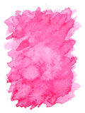 Różowa fiołkowa wodnego koloru farby szorstkiej krawędzi kwadrata kształta tekstura Fotografia Royalty Free