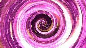 Różowa hipnozy spirala świadczenia 3 d Zdjęcie Stock