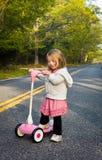 różowa hulajnoga Zdjęcia Royalty Free