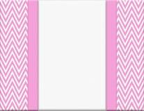 Różowa i Biała szewronu zygzag rama z Tasiemkowym tłem Obraz Stock