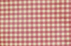 Różowa i biali siatki tkaniny torby tekstura i tło Fotografia Stock