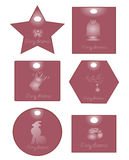 Różowa kartka bożonarodzeniowa Obraz Royalty Free